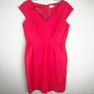 Marvin Richards sheath linen blend dress, Sz 10